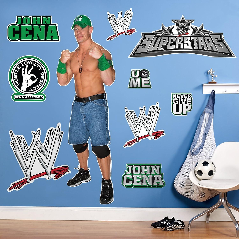 best wall decor wrestling decals for walls wwe bedroom idea giant john cena wrestling - Wrestling Bedroom Decor