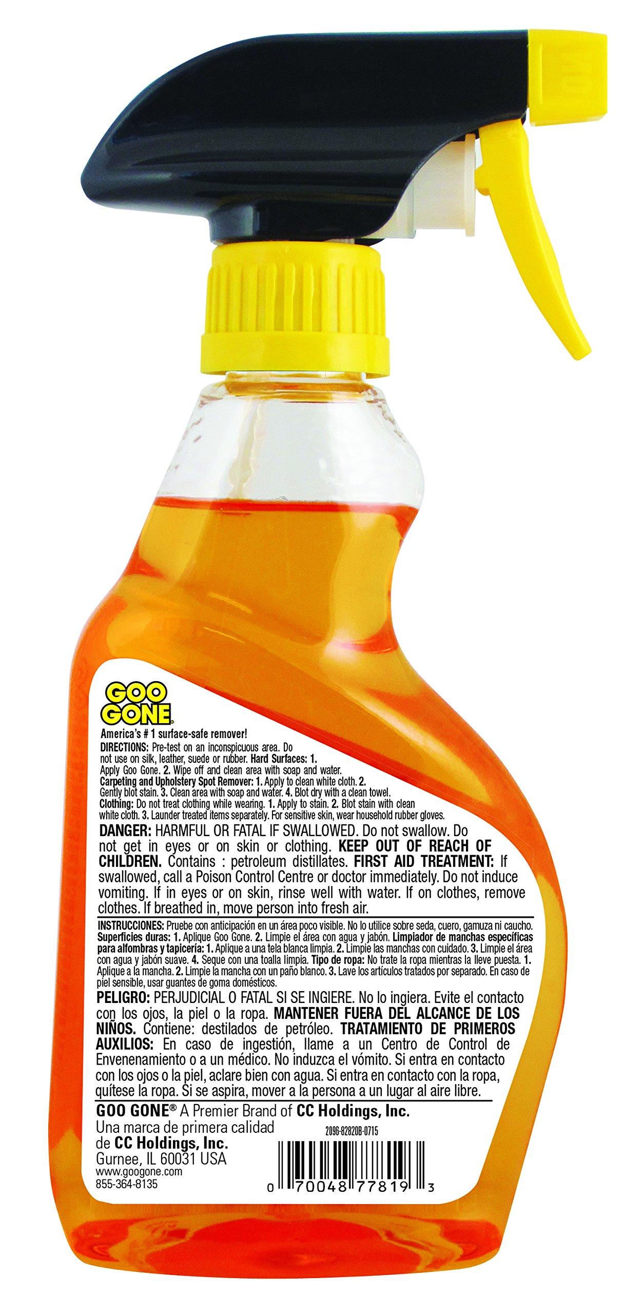 galleon goo gone gghs12 goo remover spray gel 12 oz removes chewing gum grease tar. Black Bedroom Furniture Sets. Home Design Ideas