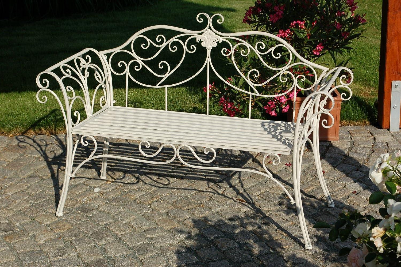 Gartenbank Sitzbank Toscana Bank Metall Gartenmöbel Antik Schmiedeeisen 2-Sitzer