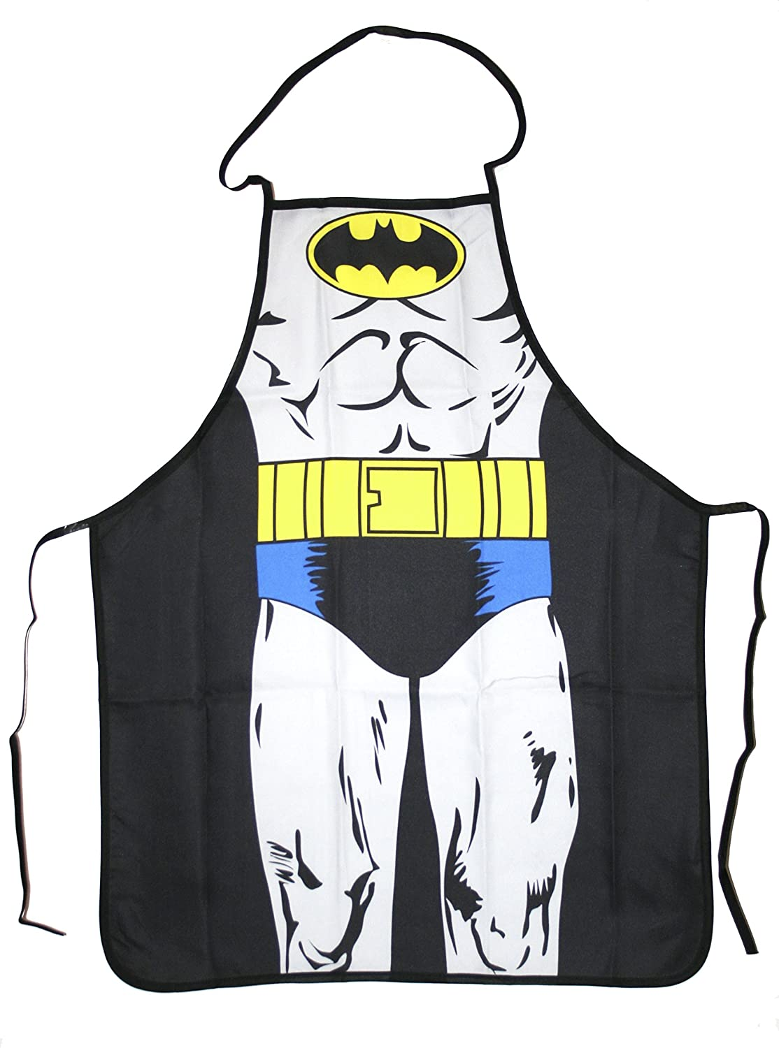 Comic Character Adult Multipurpose Apron. Ideal for a Cook, Chef, Housewife, Artist, or a Griller - 100% Polyester and Quality Print - Very Colorful, Fun and Creative - Costume Alternative! Be a Hero / Heroine on the Grill, Kitchen or At Work! how to cook with chef louie kids cookbooks box set with apron badges