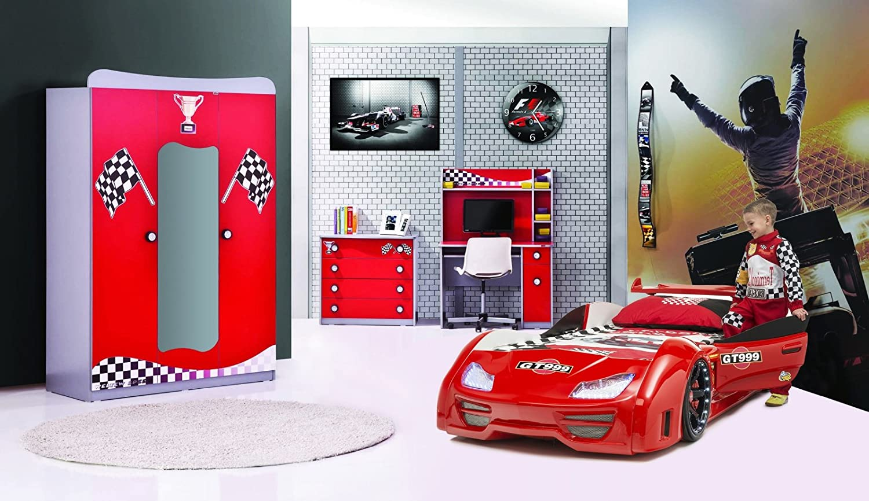 Autobett Komplettzimmer GT999 Rot