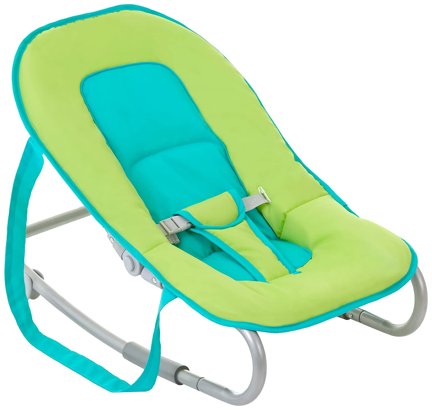 Hauck Lounger Petrol/Lime Wippe, grün,