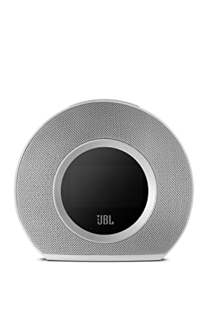 JBL Horizon Bluetooth Clock Radio with USB Charging and Ambient Light (White) (Color: White)