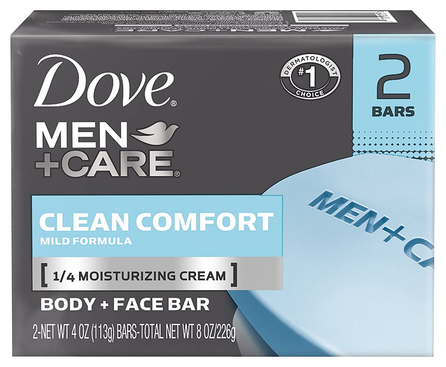Dove Men + Care Bar, Clean Comfort, 4 Ounce (Pack of 24)