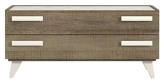 Top design Moon Mobile comò impilabile 2cassetti, legno, Quercia Fine, 100x 35x 41cm