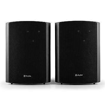 altoparlante attivo auvisio Set di altoparlanti stereo attivi da scaffale in legno con Bluetooth