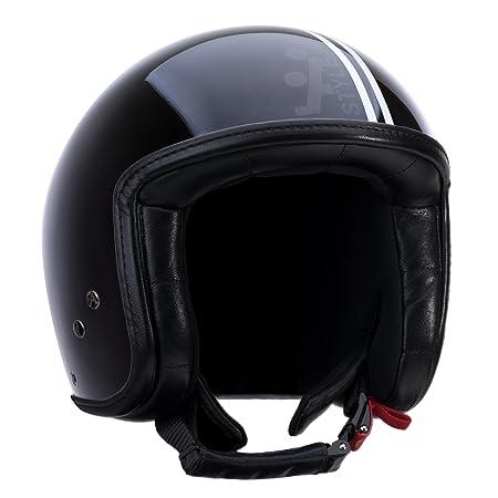 A-style 0500004S casque jet noir/blanc