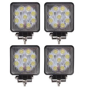 Baytter 4x 27W 9 LED Arbeitsscheinwerfer Offroad Scheinwerfer 12V Arbeitsleuchte IP67 1030V   Überprüfung und weitere Informationen