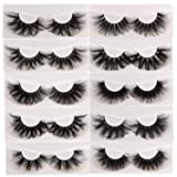 10 Pairs 25mm Lashes Fluffy Mink Eyelashes 100% Siberian Wholesale&Bulk Lashes Set