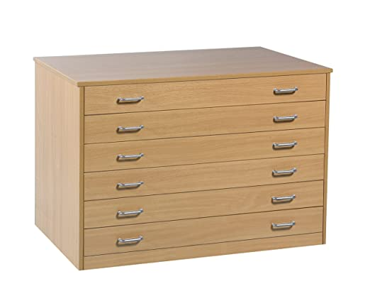 6 Drawer Plan Chest (Static) with Drawer Stops
