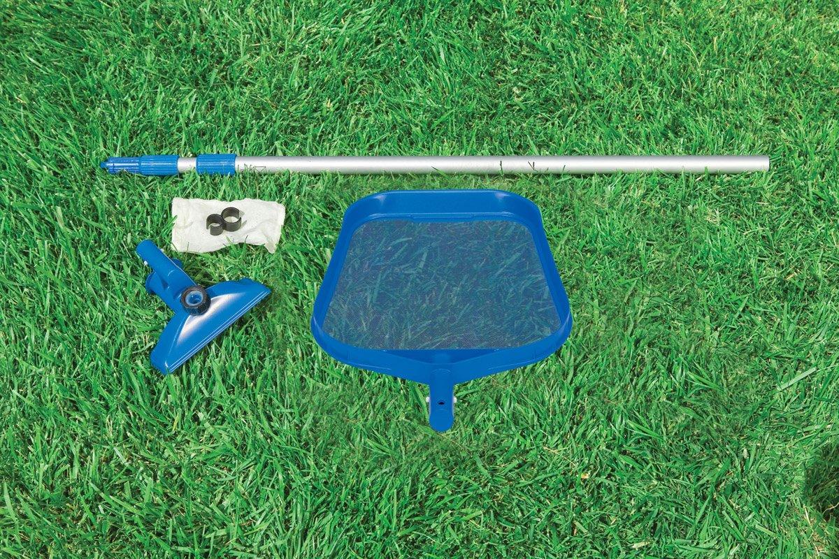 """Intex 10 x 30"""" Metal Frame Set Swimming Pool with Filter Pump & Maintenance Kit"""