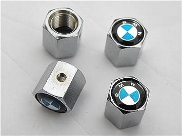 2 4 bouchons de de valve avec antivol logo bmw cuisine maison m316. Black Bedroom Furniture Sets. Home Design Ideas
