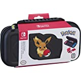 Nintendo Switch Pokémon Carrying Case – Protective Deluxe Travel Case – Eevee Rubber Logo – Official Nintendo Licensed Product (Color: Black)