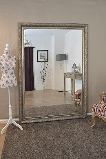 Extra Large Champagne Silver Vintage Bevelled Mirror