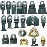 20 x TopsTools UNK20CD OMT Mix Blades for Bosch Fein MultiMaster (Non-StarLock) Makita Milwaukee Genesis Chicago Craftsmen Nextec Rockwell Ryobi Hitachi Multi Tool Accessories