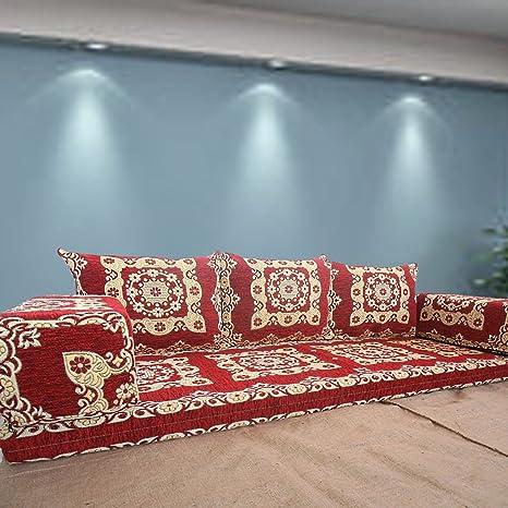 Oriental sala de estar muebles, Tribal étnico Idea, de suelo cojines de asiento, asiento de árabe Majles Jalsa, cojines Kilim turco, sala de estar muebles sofá cama muebles
