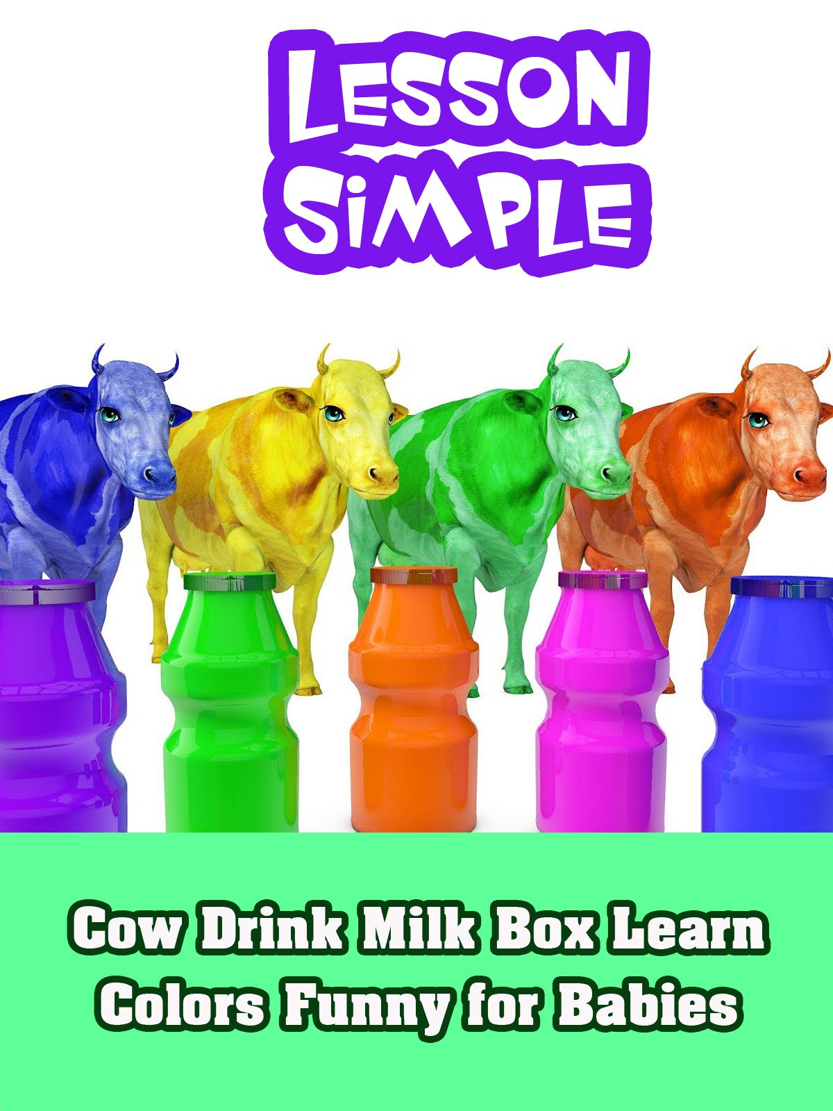 Cow Drink Milk Box Learn Colors Funny for Babies