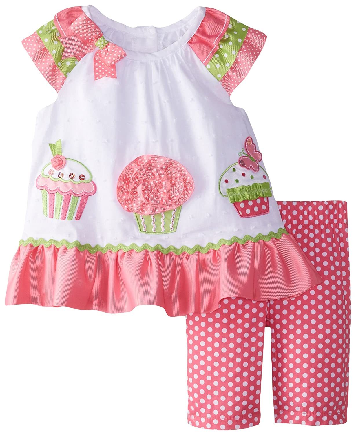купить Rare Editions Baby Baby-Girls Newborn Cupcake Applique Legging Set недорого