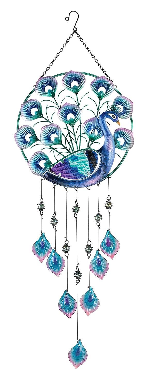 Peacock wall decor metal - Peacock Wind Chimes