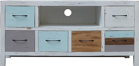 Sit-Möbel 8015-10 TV bajo Forest, MDF, acabado antiguo, FSC-Certificado, 102 x 34 x 49 cm, Multicolor