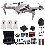 DJI Mavic Pro Platinum Fly More Combo Travel Bundle: 2 Extra Batteries, Professional Case and More (Color: Platinum Fly More, Tamaño: FlyMoreCombo)