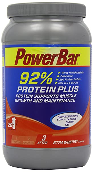 PowerBar Proteinshake ProteinPlus 92%, Erdbeer, 600g