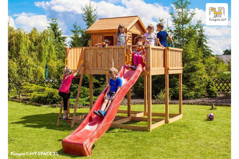 Fungoo ® My Space XL Spielhaus mit Rutsche Farbe blaue Rutsche kaufen