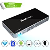 Mini Projector, Thinkmart Portable Pico Projector for iPhone and Android Phones, Support Android 7.1 1080P HDMI WiFi USB TF Card, A Mobile Multimedia 120