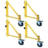 Pro-Series 18 inch Scaffolding Outriggers with Casters - 4 Piece Set