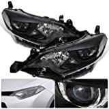 For Toyota Corolla E170 Front Bumper LED Chip Projector Headlight Head Lamp Black Housing Clear Lens Reflector Upgrade Assembly Pair Left Right