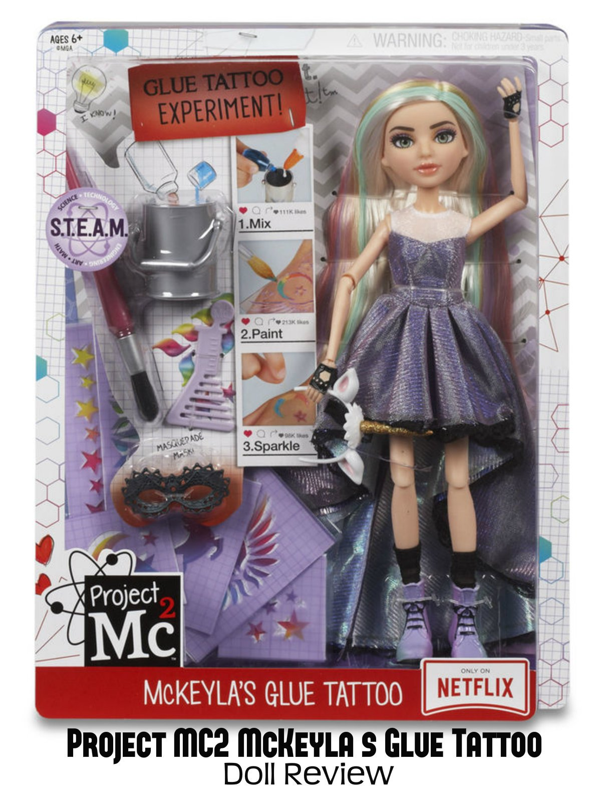 Review: Project MC2 McKeyla's Glue Tattoo Doll Review