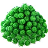 500 Pieces Glitter Pompoms 1 Inch Fuzzy Pom Poms Arts and Crafts Making Balls for Hobby Supplies and Craft DIY Decoration (Fruit Green) (Color: Fruit Green)