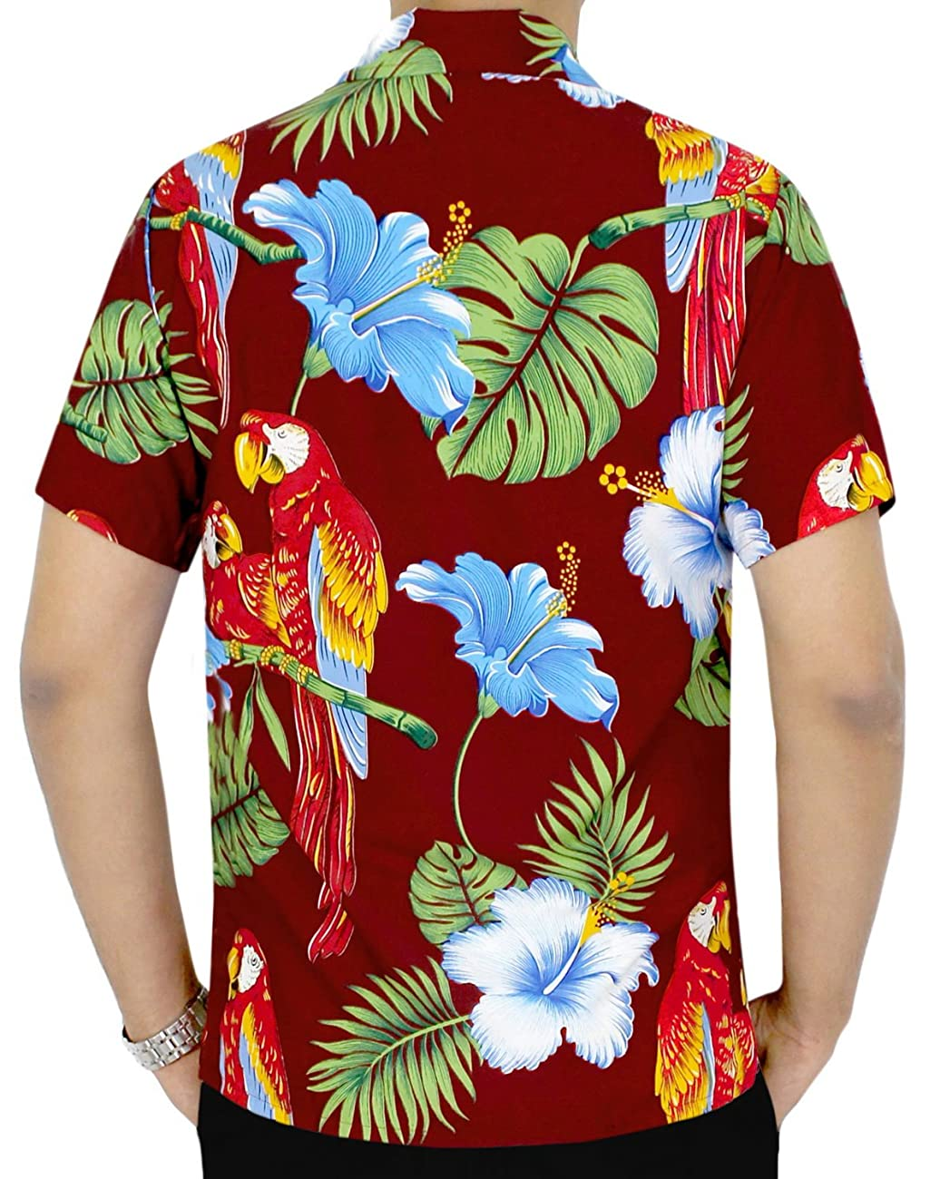 La Leela Hawaiian Shirt For Men Short Sleeve Front-Pocket Printed In Many Colors 1