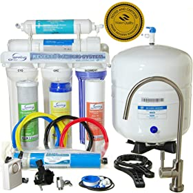 iSpring RCC7 - WQA GOLD SEAL - 5 Stages 75GPD Reverse Osmosis Water Filter System