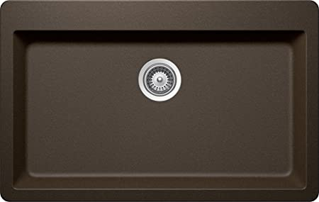 SCHOCK MOTN100T087 MONTANO Series CRISTADUR Topmount Large Single Bowl Kitchen Sink, Bronze