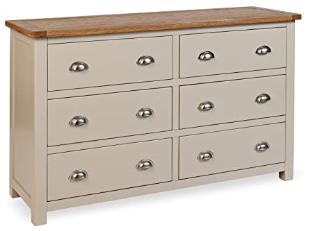 Portland Painted Oak 6 Drawer Chest