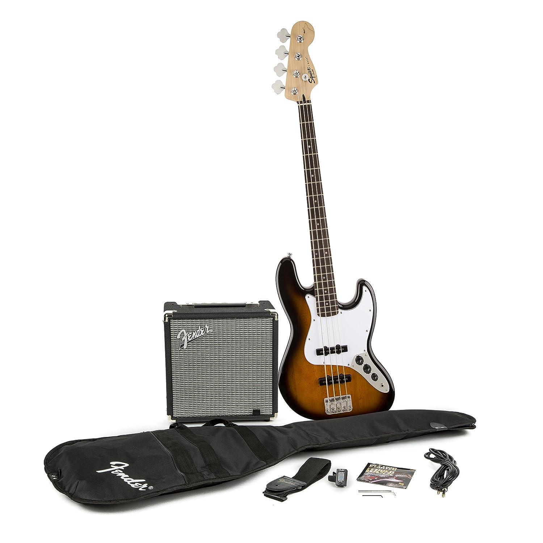 Fender 0301676032 Squier J Bass Guitar Pack, Sunburst fender squier jim root telecaster flat white