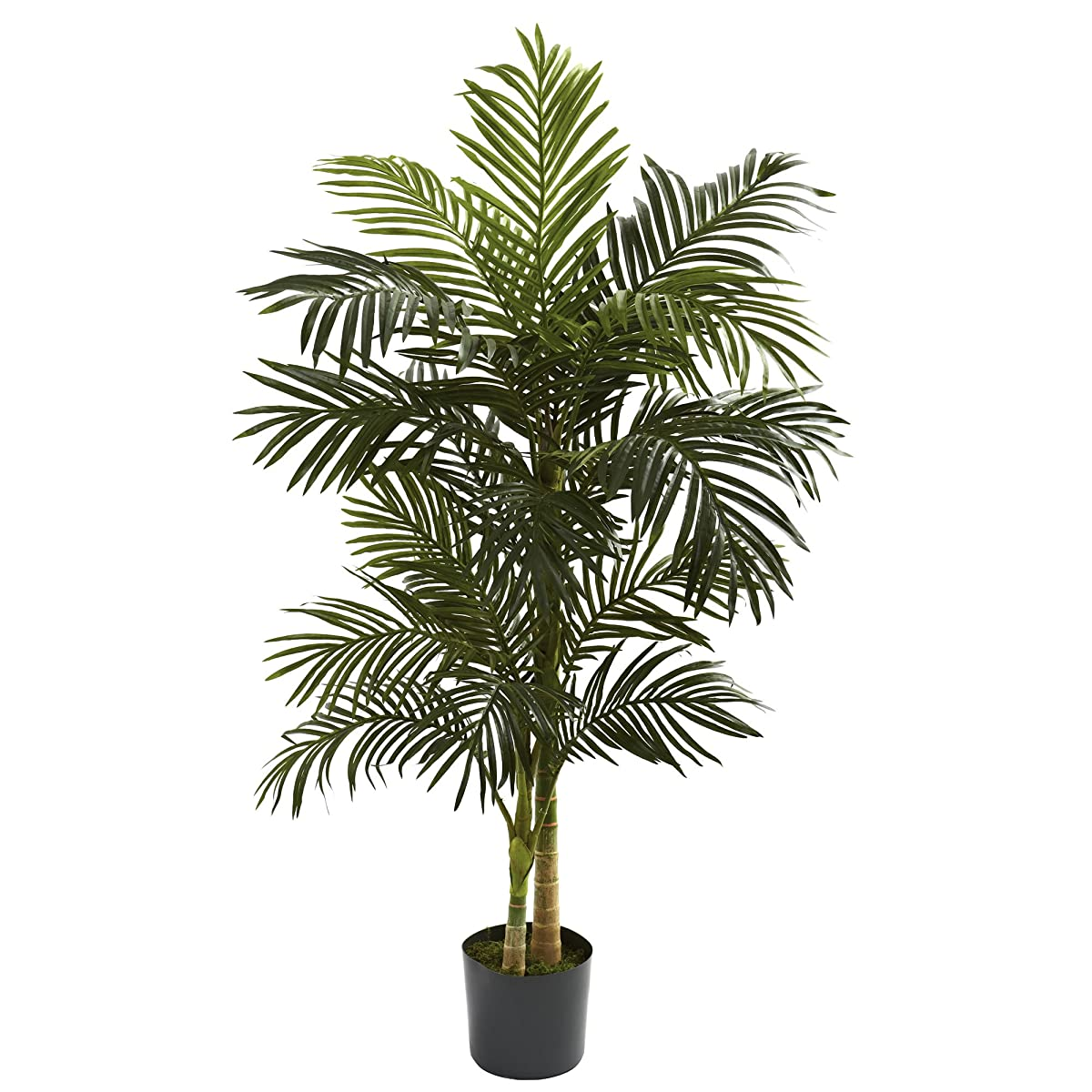 Nearly Natural 5358 Golden Cane Palm Tree, 5-Feet, Green