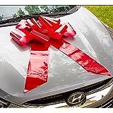 HONGJUYUAN Big Red Car Gift Wrapping Large Bow Easy Pull Bow(Perfect Shape Guaranteed )
