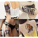 Dalin 4 Sheets Temporary Tattoos, Blue Owl, Cat, Fox (Color: Blue Owl, Cat, Fox)