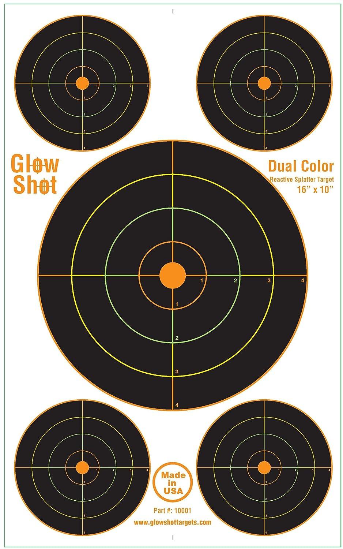 10x16 Reactive Splatter Target 5 Bulls-eyes