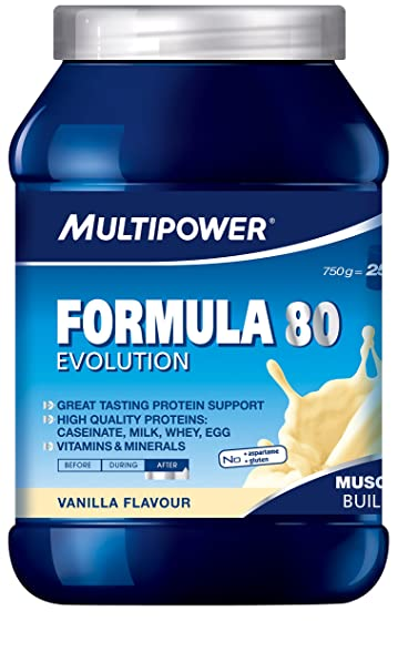 Multipower Formula 80 Evolution, Vanille, 1er Pack (1 x 750 g)
