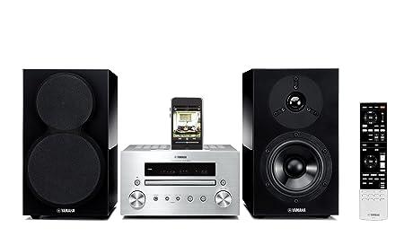 Yamaha MCR-550 Mini-chaîne avec Station d'accueil pour iPod 2 x 32 W USB Argent
