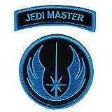 Star Wars Jedi Order Master Tab Morale Hook Fastener Patch (Bundle of 2pc-Blue) (Color: multicolored, Tamaño: 3.0 X 3.25)
