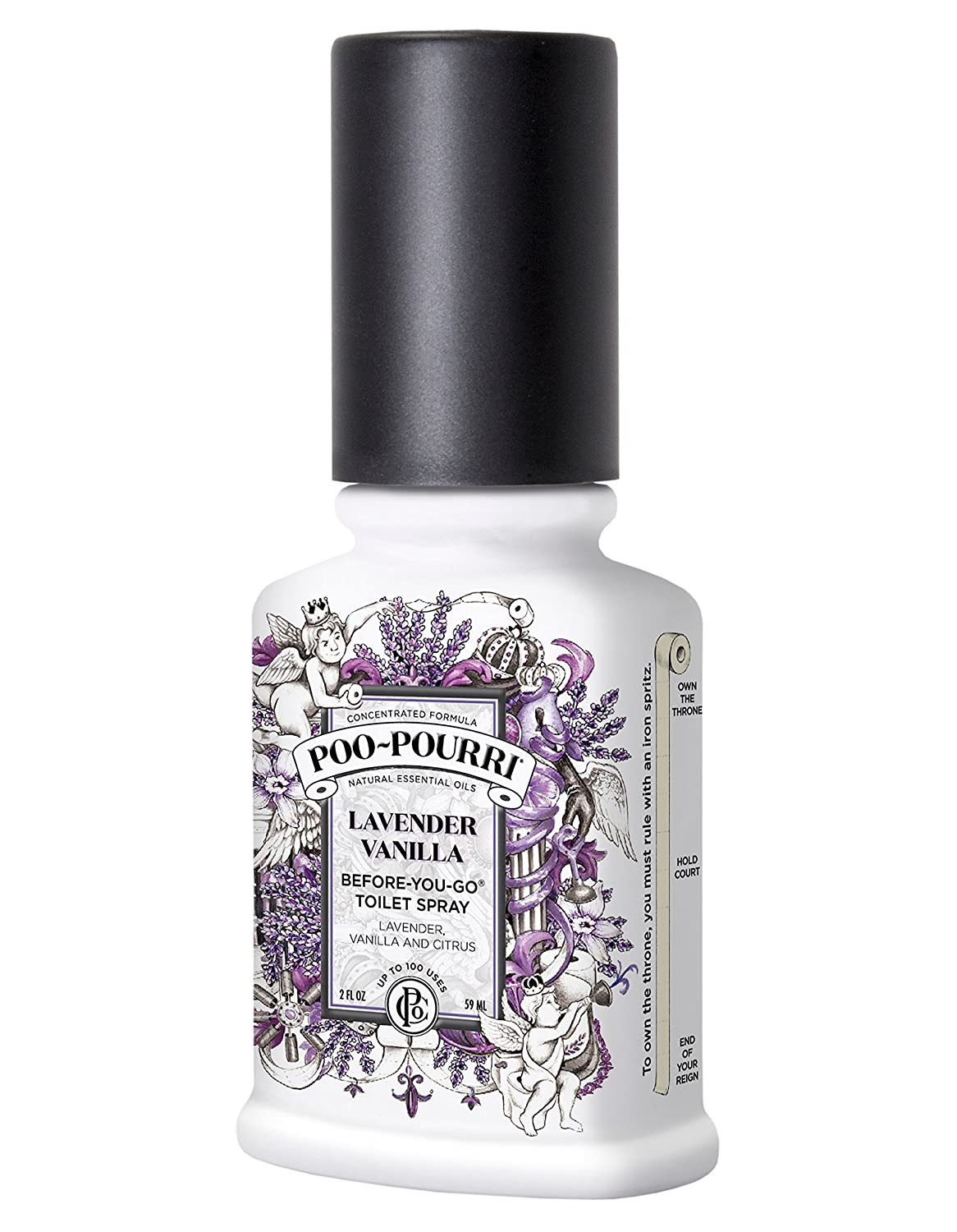 Poo-Pourri Before-You-Go Toilet Spray 2-Ounce Bottle, Lavender Vanilla Scent