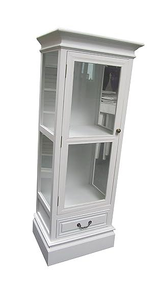 Vitrina de cristal de estilo shabby chic de armario aparador, New