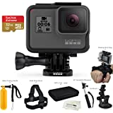 GoPro HERO6 Black (2017 Model) - w/SanDisk EXTREME 32GB Micro SDHC, w/A Deluxe Accessory Kit Bundle.