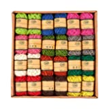24-Roll Set of Jute Twine - Natural Twine Rope, Jute String, Twine String for DIY Crafts, Decoration, Embellishments, Random Assorted Colors - 11 Yards Per Roll (Color: Multicolored)