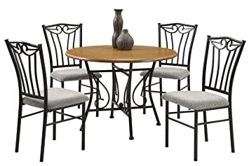 Bernards Heritage 5-Piece Wood and Metal Dinette Set
