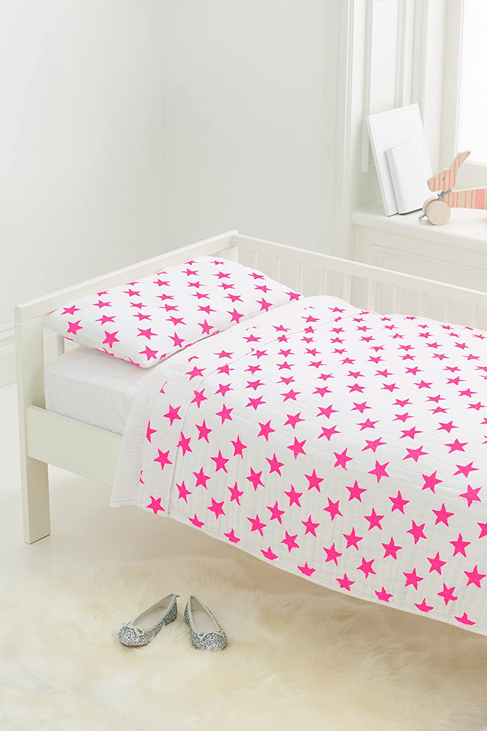 aden + anais Classic Toddler Bed in a Bag, Fluro Pink